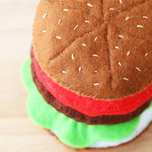 ハンバーガーの型紙